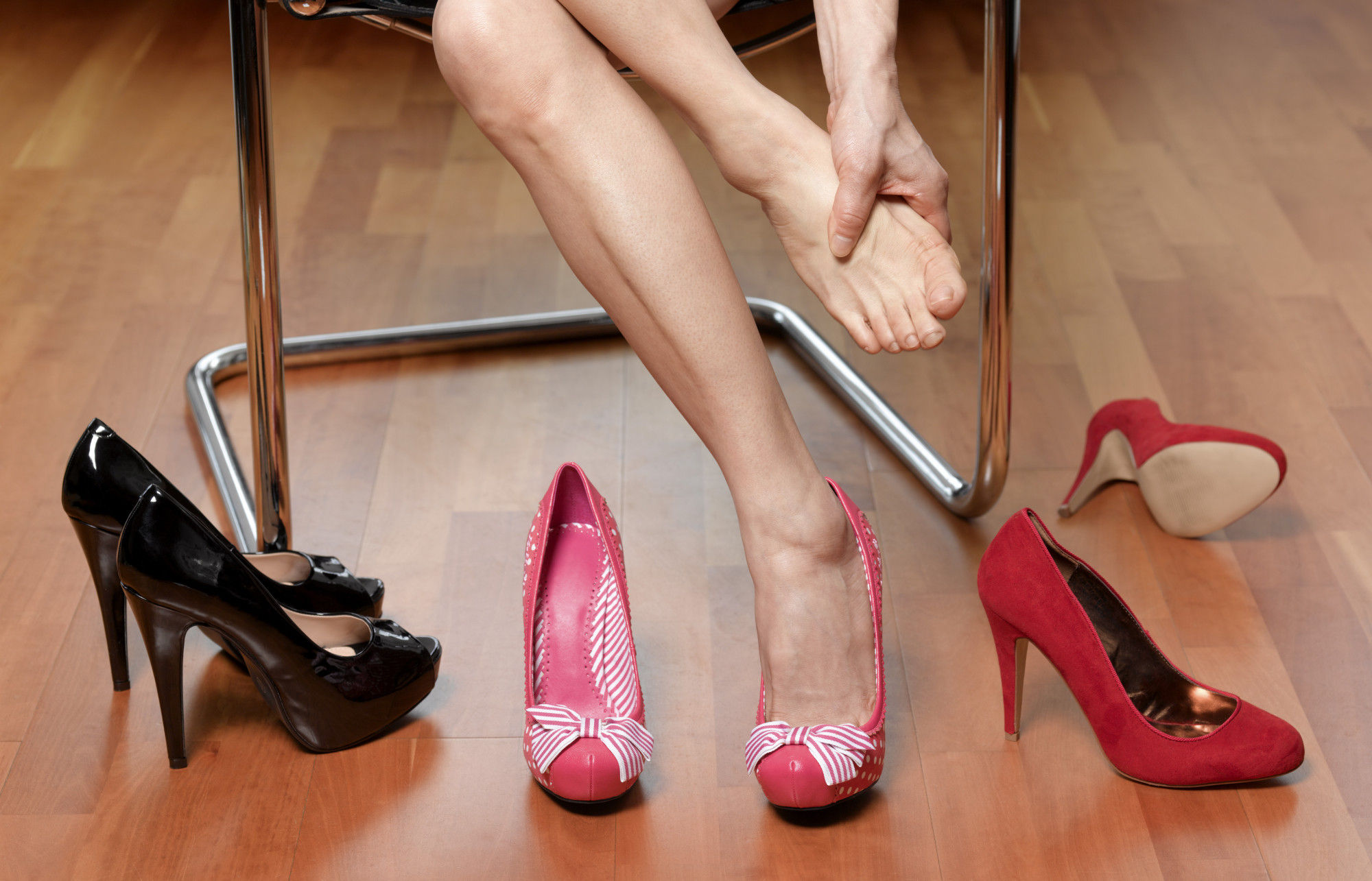 Мозоль из-за неудобной обуви
