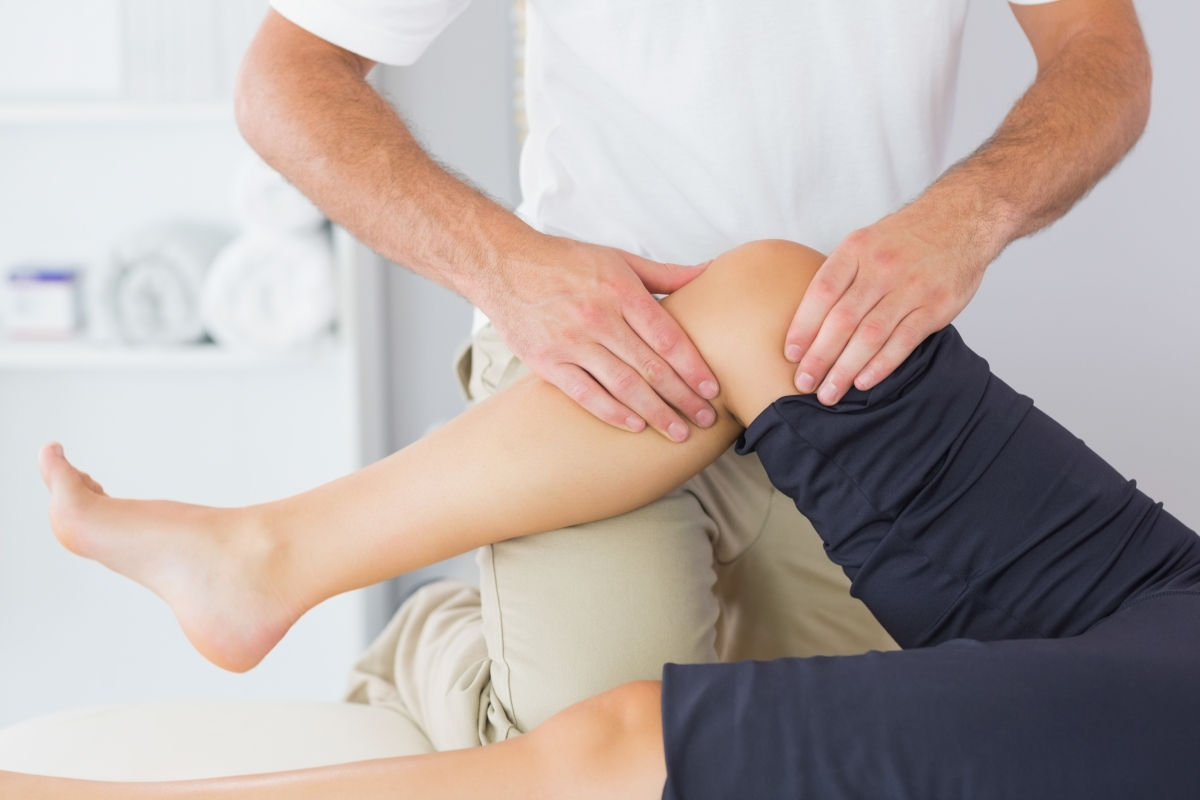 Пальпация колена