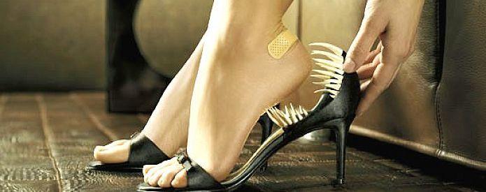 Обувь ка причина возникновения волдырей