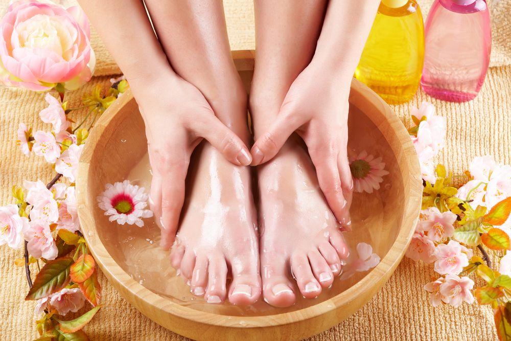 Использование ванны для ног